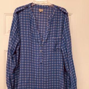 Cremieux blouse- sz Large